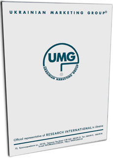 Folders/Folder «UMG»: Silk-screen printing, two colors (green and silver); Individual stitching.